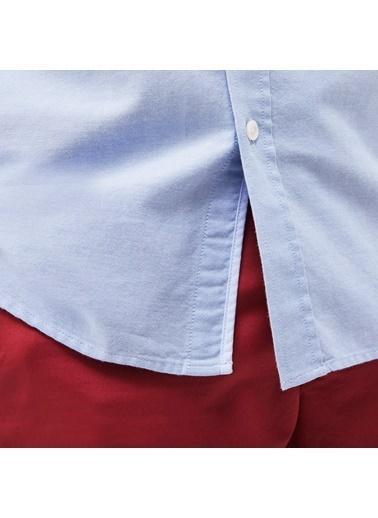 Lacoste Slim Fit Uzun Kollu Gömlek Mavi